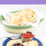 ground beef pasties in basket and on plate with ketchup