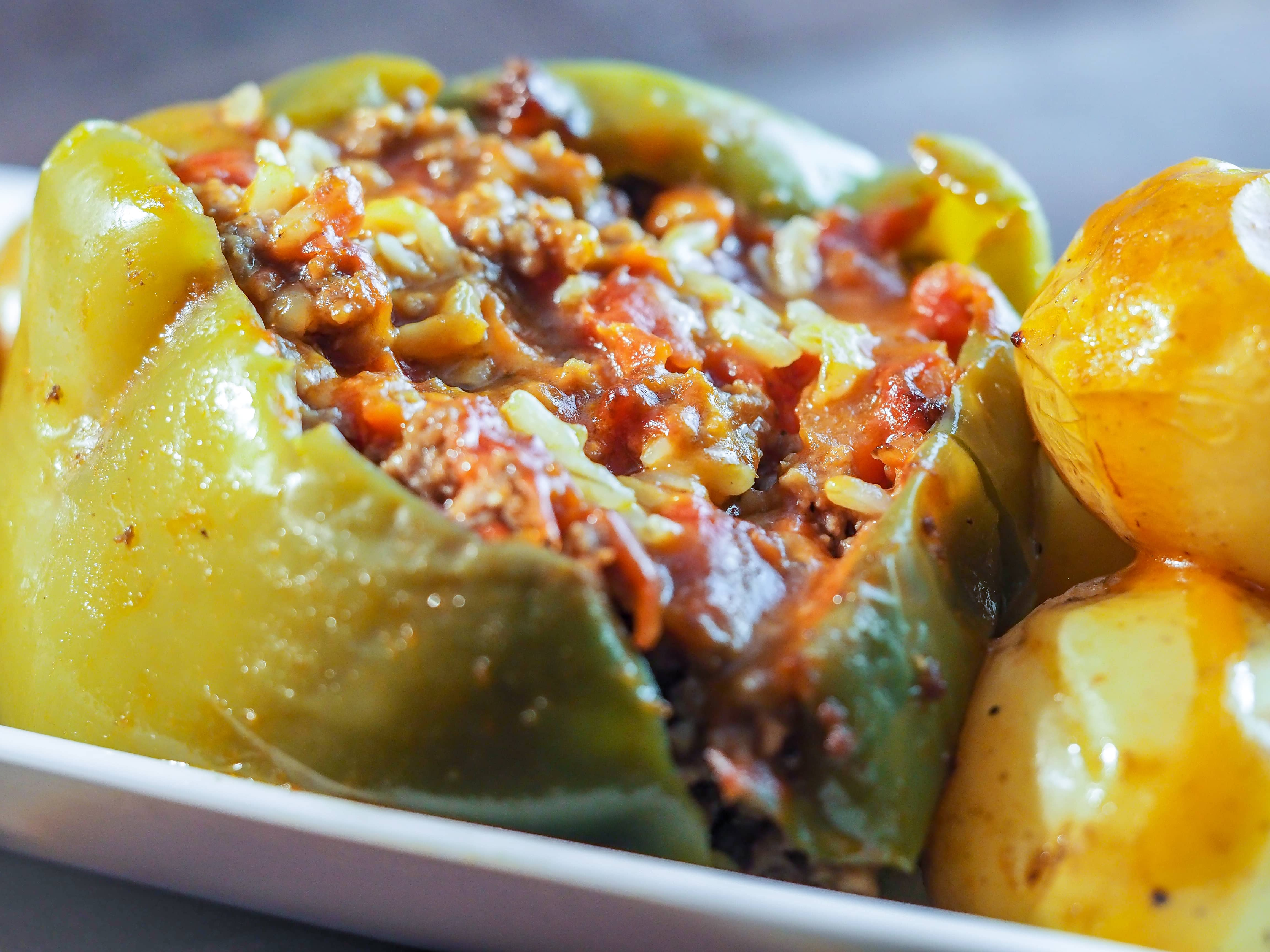Perfect Dutch Oven Stuffed Green Peppers