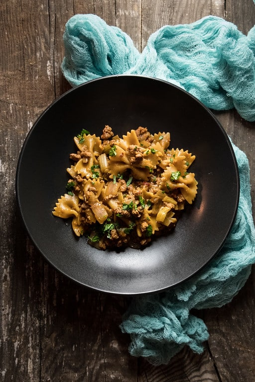 instant pot ground pork and pasta