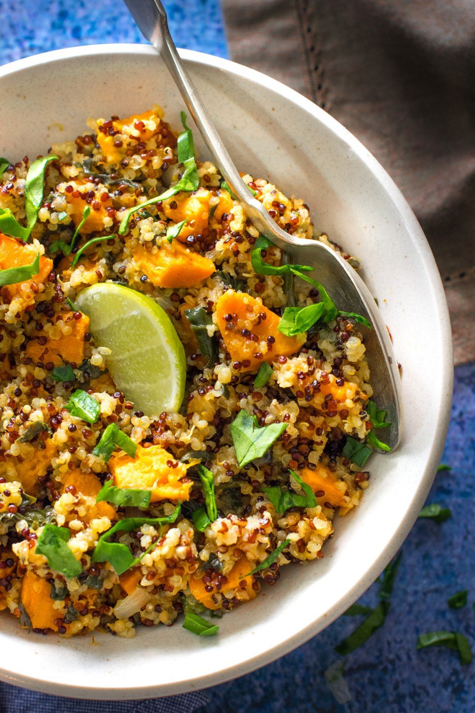 instant pot curried quinoa spinach sweet potato