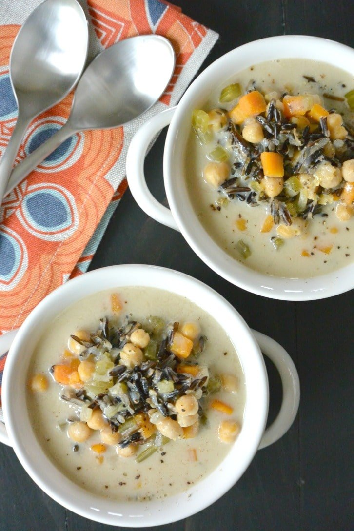 vegan wild rice soup