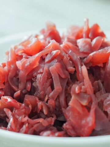 instant pot red cabbage with apples