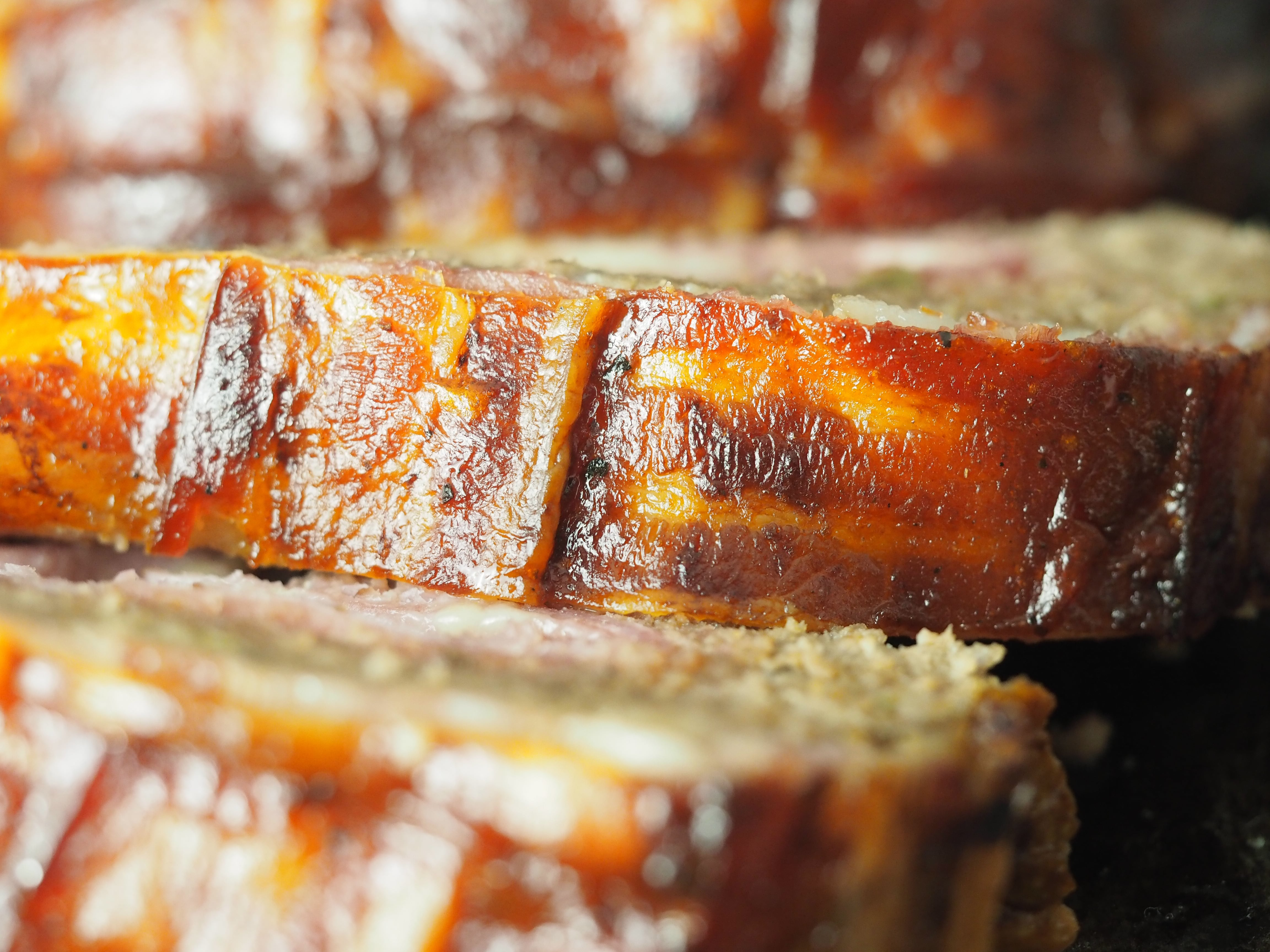 bacon bbq stuffed meatloaf