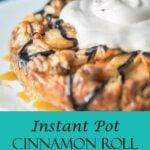 instant pot cinnamon roll apple galette