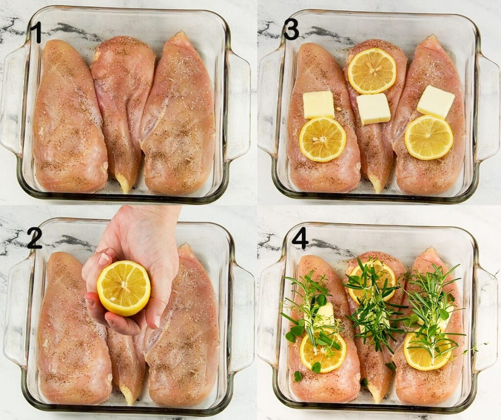 how to picture of how to prep lemon chicken