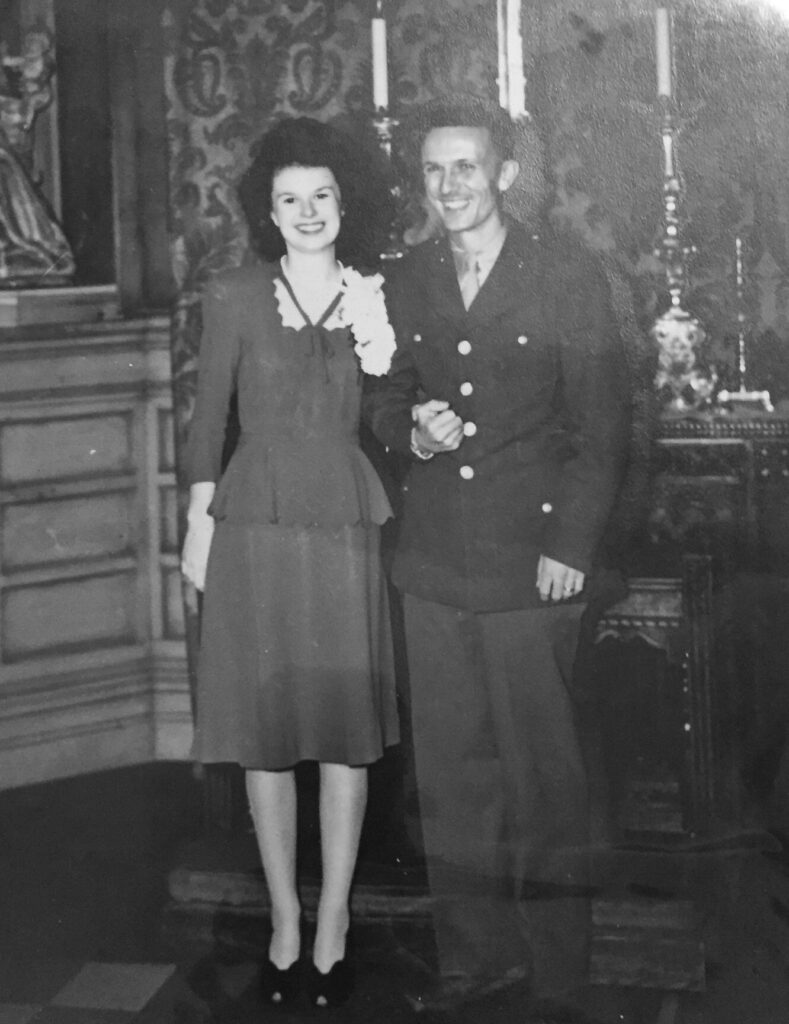 family picture of married couple 1940's