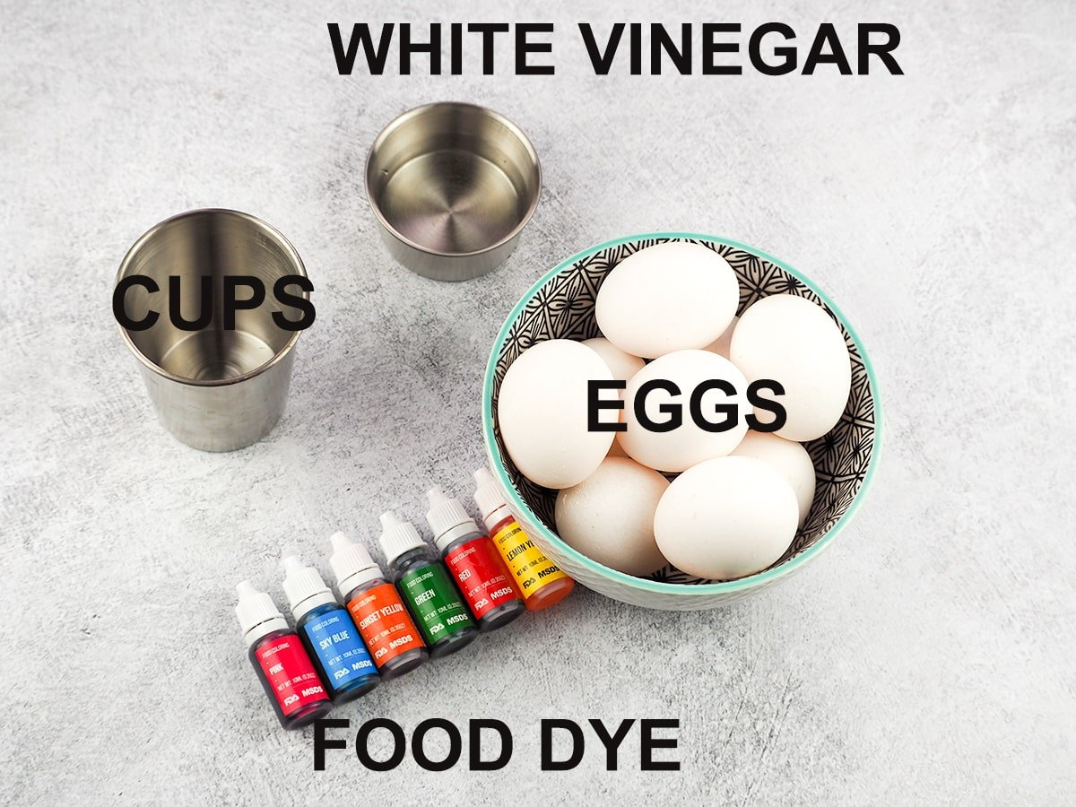 ingredients for easter eggs