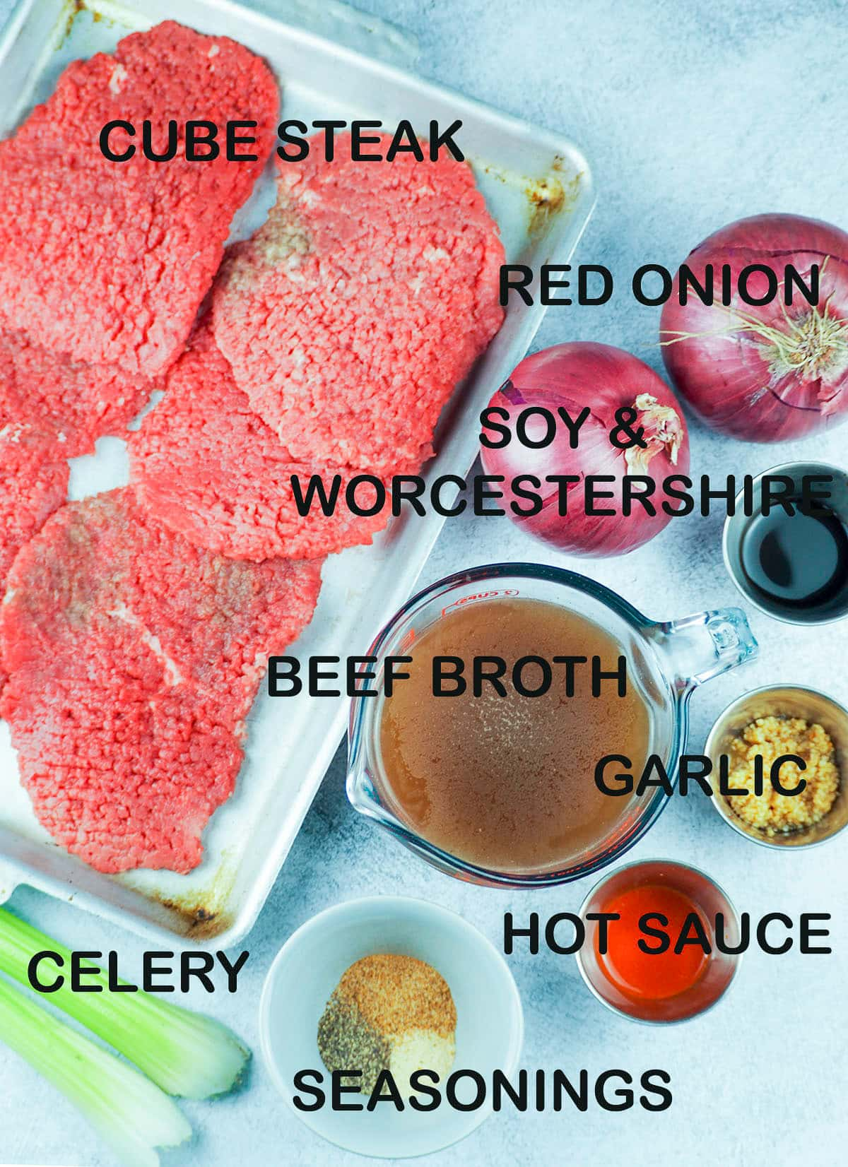 ingredients for cube steak recipe
