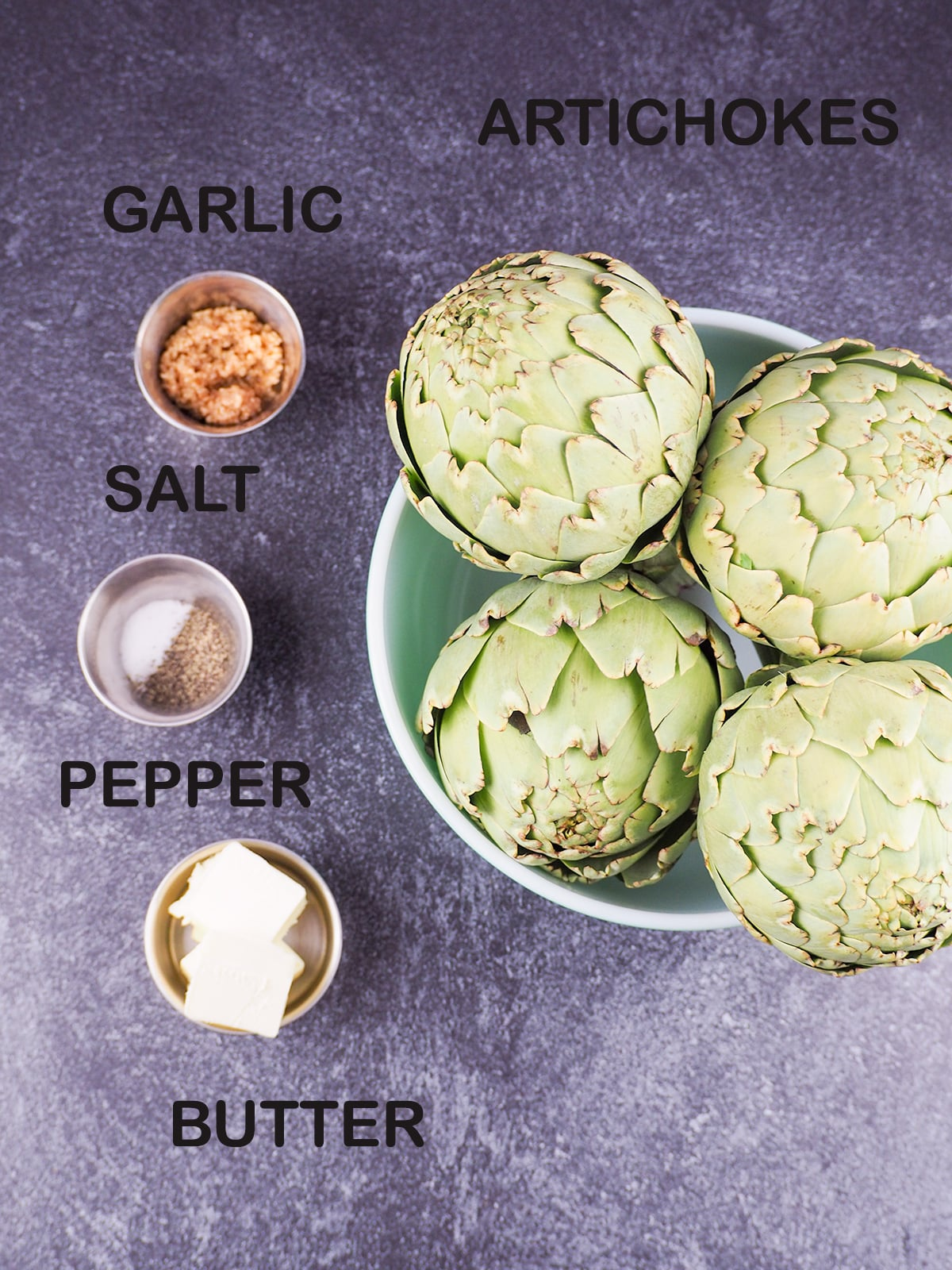 ingredients for artichokes