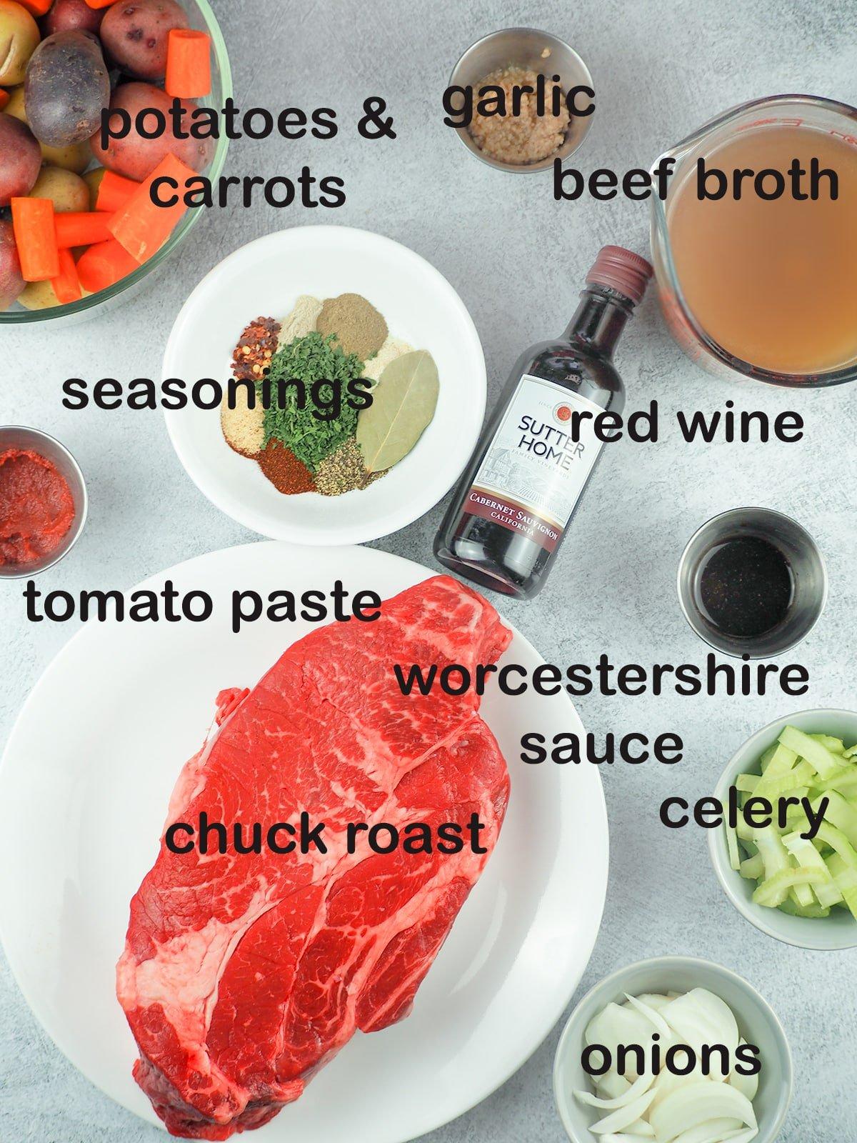 ingredients for pot roast