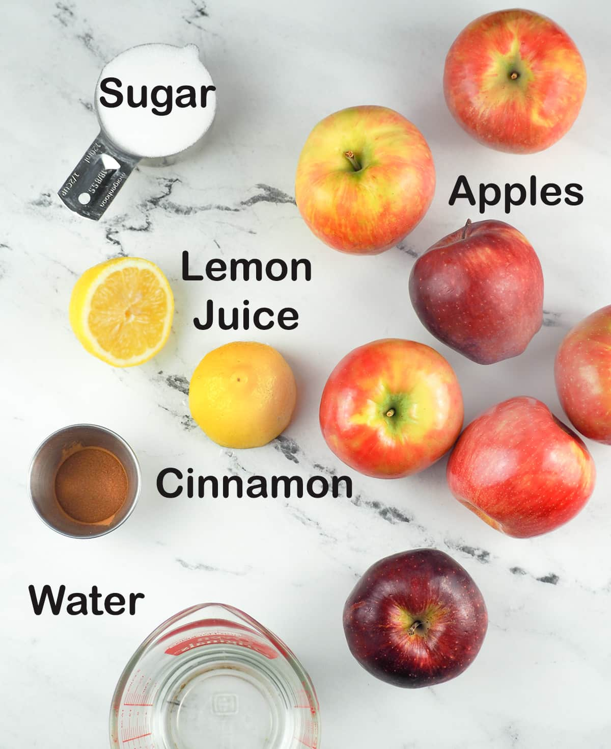 ingredients for applesauce recipe