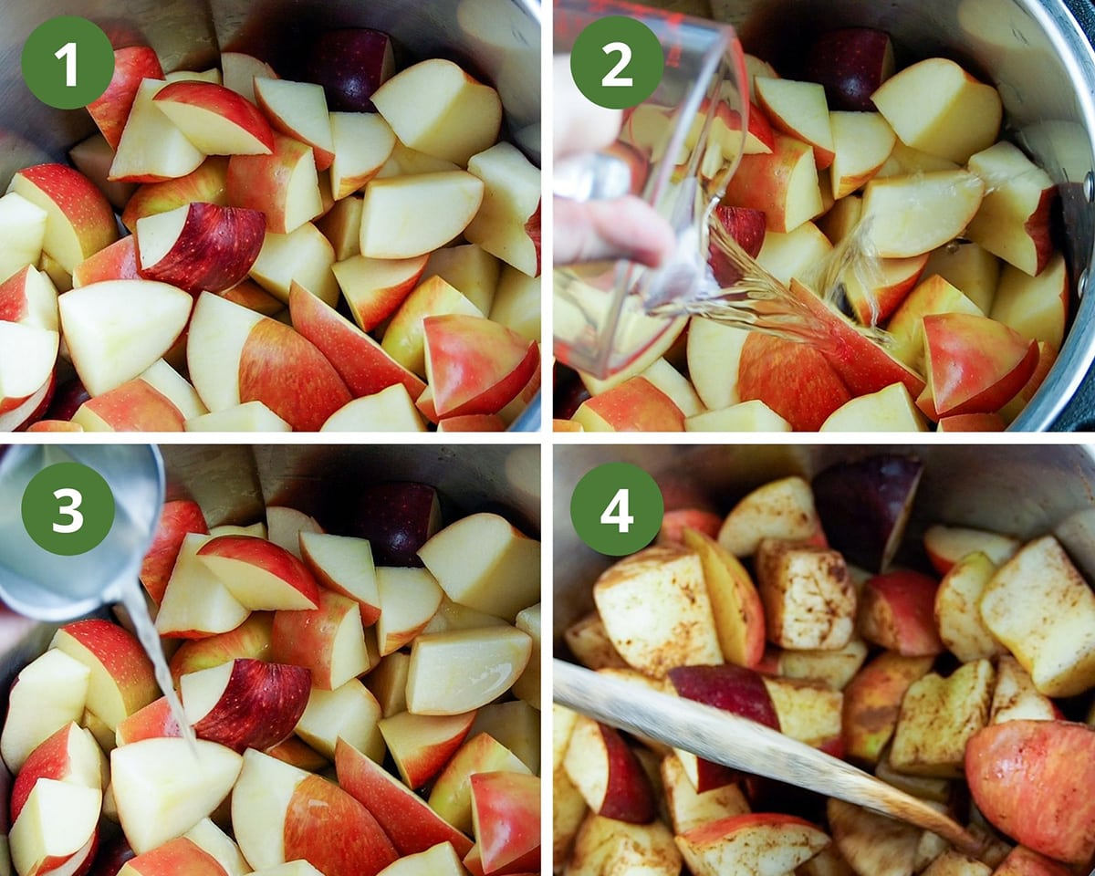 how to prep apples for cooking